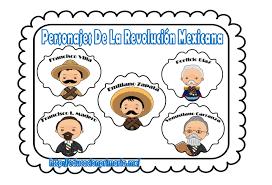 imagenes de la revolucion mexicana en preescolar personajes de la revolución mexicana educación primaria