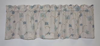 Blue Curtain Valance Valance Curtains Window Toppers