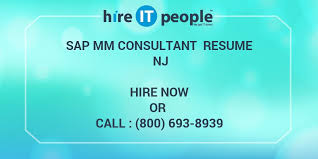 Sap Sd Consultant Resume Sample by Sap Mm Consultant Resume Nj Hire It People We Get It Done