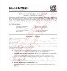 Resume Template Project Manager Construction Project Manager Resume Template Jospar
