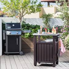 Bbq Tables Outdoor Furniture by Bbq Garden Storage Unit Outdoor Kitchen Wood Effect Resin