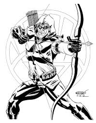 green arrow coloring pages chuckbutt com