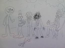 gray pubic hairs fan art mr poopy butthole marries morty s pubic hair rick falls