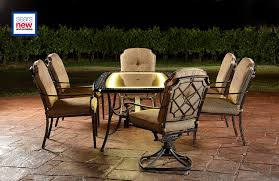 Sears Patio Furniture Sets - agio international bella luna 7pc lighted dining set limited
