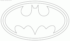 batman symbol coloring pages