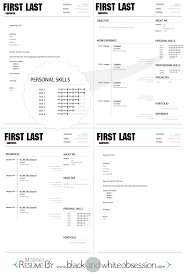 Resume Sample Flight Attendant by Black And White Obsession Chic And Polished Resume Template