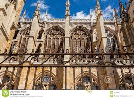 flying buttresses detail in the cathedral of leon spain stock