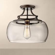 Glass Ceiling Light Fixtures Charleston Bronze 13 1 2