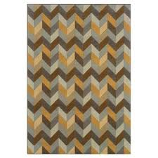 Teal And Gold Rug Modern Chevron Area Rugs Allmodern