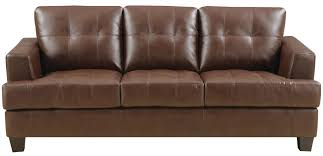 Coaster Leather Sofa Coaster Samuel 504071 Stationary Sofa W Attached Seat Cushions