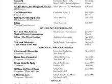 musical theatre resume builder free resume