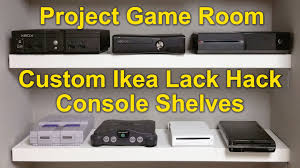 Ikea Lack Hacks Project Game Room Vlog 02 Custom Ikea Lack Hack Youtube