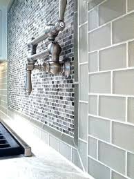 kitchen glass tile backsplash contemporary gray glass tile backsplash butlers pantry with gray