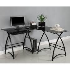 Glass L Shaped Computer Desk Fanciful Strikingly Inpiration Glass L Shaped Office Desk Desk L