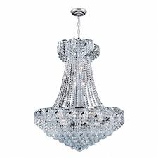 15 Light Chandelier Collection 15 Light Chrome Finish And Clear Crystal Chandelier