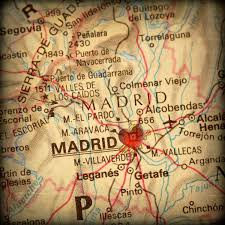 Heart Map 8x8 Map Of Madrid Spain With A Heart Shape With A Grunge