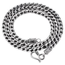 black rope chain necklace images Vintage rope chain necklace in sterling silver for men zivpin jpg
