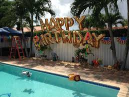 pool party ideas arch a swimming backyard balloon 21st birthday pool party ideas