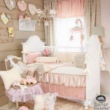 modern bedroom furniture with pink shabby chic nursery bedding set