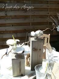 decoration table mariage theme voyage décoration de table bois flotté nuit des anges