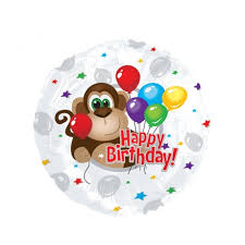 inflated helium balloons delivered bunches co uk birthday monkey balloon bmon wish someone special a