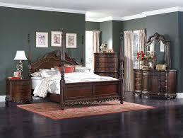 Bedroom Furniture Yate Homelegance Deryn Park Poster Bed Set Cherry 2243 Bed Set