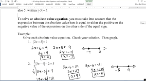 1 6 absolute value equations and inequalities