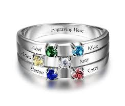 6 mothers ring 6 ribbon band s family ring think engraved