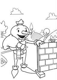 spud scarecrow bob builder colouring