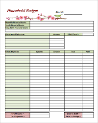Excel Home Budget Template Sle Household Budget 8 Documents In Pdf Word Excel