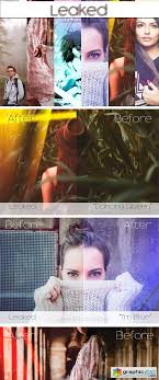 light leak photoshop action leaked light leak photoshop action free download vector stock