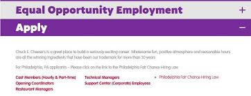 chuck e cheese job application u0026 employment resources job