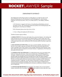 employment contract template free download professional resumes