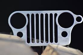 jeep cj grill logo amazon com boesch built stainless steel jeep grill keychain
