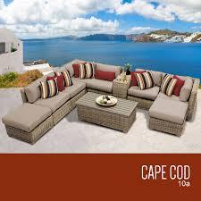 Wicker Patio Furniture Sets Tk Classics Cape Cod 10 Piece Outdoor Wicker Patio Furniture