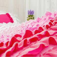 Fuschia Bedding Ruffle Bedding Set