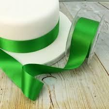 emerald green ribbon green cake ribbons