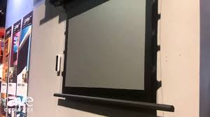 ambient light rejecting screen cedia 2014 elite screens talks about polarstar ambient light