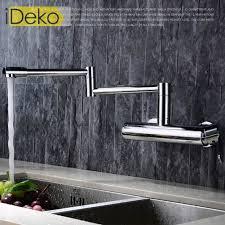 robinet cuisine haut de gamme ideko robinet mitigeur mural de cuisine 360 degrés salle de bains