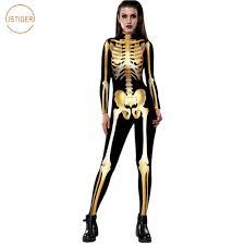 womens skeleton jumpsuit istider skeleton skull costume for 3d