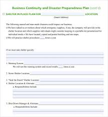 disaster recovery business continuity template business continuity