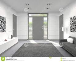 modern interior with front door stock illustration image 66991615