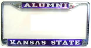 ohio alumni license plate frame k state license plates