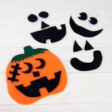 Halloween Pre K Crafts Felt Pumpkin Preschool Craft