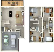 Two Floor House Plans In Kerala 2 Storey House Floor Plan With Perspective Simple Two Story Plans
