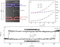 temperature gradient induced magnetization reversal of single