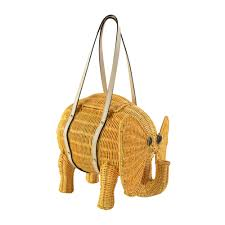 nwt auth kate spade limited edition wicker straw animal handbag