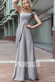 robe de mariã e grise et blanche robe longue grise plissée asymétrique en mousseline témoin mariage