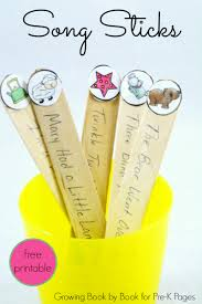 song sticks building skills in transitions early childhood
