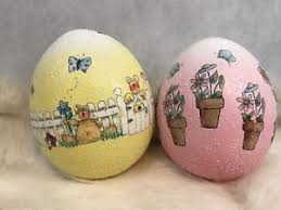 ceramic easter eggs vintage pink yellow decorative ceramic easter eggs collectibles